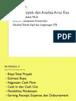 Modul 7 Biaya Proyek & Analisa Arus Kas Proyek