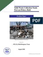 SWANA Haiti Response Team Position Paper 2010