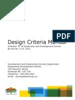 Design criteria Manual