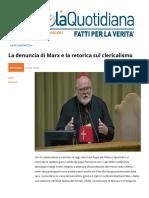 La Denuncia Di Marx e La Retorica Sul Clericalismo