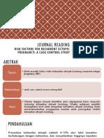 Journal reading + Telaah