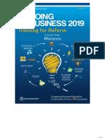 Doing Business 2019 - Economy Profile Morocco