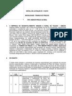 EDITAL TOMADA DE PREÇOS- PLANOS CARGOS E SALARIOS