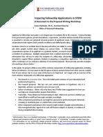 Fellowship Proposal Writing STEM