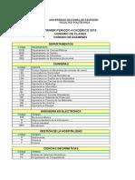Horario de Clases y Examenes Primer Periodo 2019 11022019