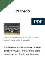 Orden Cerrado - Wikipedia, La Enciclopedia Libre