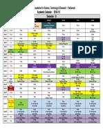 1.B.tech Academic Calendar Sem II 2018 19
