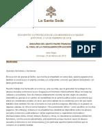 Papa Francesco 20190224 Incontro Protezioneminori Chiusura