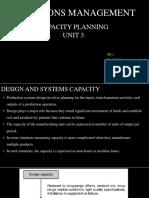 Capacity Planning-unit 3