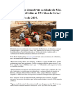 Arqueólogos Descobrem a Cidade de Siló, Onde Josué Dividiu as 12 Tribos de Israel_14Jan.2019