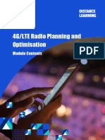 4G LTE Radio Planning and Optimisation - Module Contents (Nov 16)