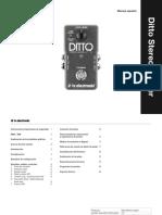 Tc Ditto Stereo Looper Manual Spanish