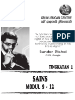Sains Form 1 Modul 9-12 Cover