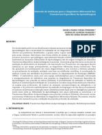 Protocolo de Avaliação Para o Diagnóstico Diferencial Dos Transtornos Específicos de Aprendizagem