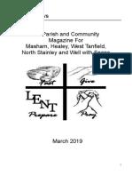 yoredale news parish magazine march 2019