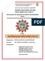 Informe de Materiales Prefabricados