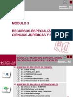 Modulo 3 - Recursos Especializados en CC.jj y SS