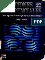 Ecuaciones Diferenciales Con Aplicaciones - George Simmons Ed. 2