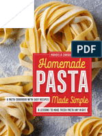 Homemade Pasta Made Simple a Pasta Cookbook With Easy Recipes & Lessons to Make Fresh Pasta Any Night