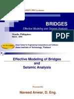 Seismic Modeling and Analysis of Bridges Manila March 2006
