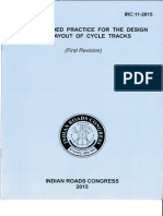 IRC11-2015 Recommended Practice for the Design and Layout of Cycle Tracks (First Revision).pdf