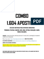 Lista 1.604 Apostilas Para Diversos Concursos