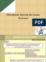 MICROBIOTA NORMAL DO CORPO HUMANO