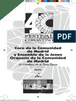 Coro y Esamble de La Joven Orq de La Comunidad de Madrid
