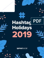Sprout Social Hashtag Holidays 2019