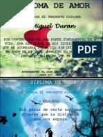 Diplomas Dia Del Amor