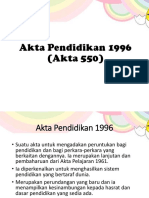Akta Pendidikan 1996