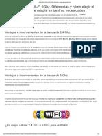 Cómo Elegir El Mejor Wi-Fi Banda Wi-Fi 2.4Ghz y Wi-Fi 5Ghz- Diferencias