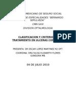 Clasificacion y Criterio de Tratamiento en Ulceras Cornea Les.