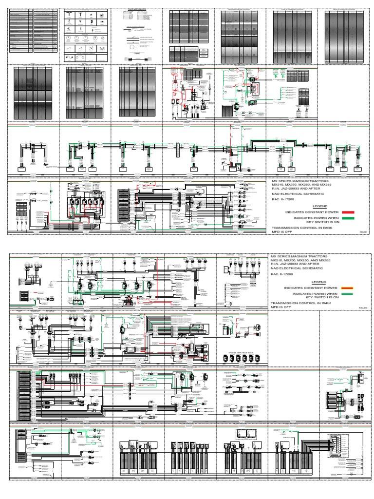 Case Ih Schematic Electrical 6-17260 Mx210 Mx230 Mx255 Mx285 ... B Kubota Wiring Schematic on