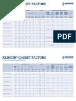 Klinger Gasket Factors