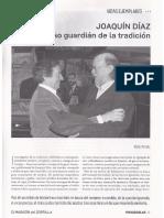 Artículo sobre Joaquín Díaz (Revista Mayúsculas)