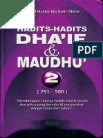 Hadits-Hadits Dhaif Dan Maudhu 2