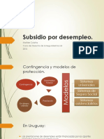 Presentaci+¦n Power Point - Subsidio por desempleo