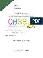 QHSSE Project Sécurité