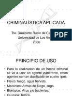 Criminalística Aplicada