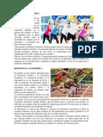 Capacidades Fisicas y Resistencia Aerobica y Anaerobica