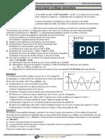 Série d'exercices N°5 - Physique - Mouvement rectiligne sinusoidal - 3ème Informatique (2017-2018) Mr Hedfi Khemais (1)