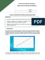 Practica 2 - Determinación de la Curva Espectral y Cuantificación de Fe(II) Por Espectroscopia Visible