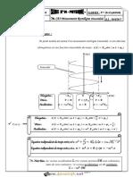 Série d'Exercices - Sciences Physiques - Mouvement Rectiligne Sinusoidal - 3ème Mathématiques (2016-2017) Mr Ben Fraj Massaoud (2)