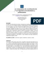 Practica 1. Estabilidad en Compuestos de Coordinación