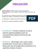 Esterilización, métodos, microbiologia