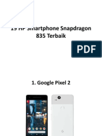 19 HP Smartphone Snapdragon 835 Terbaik