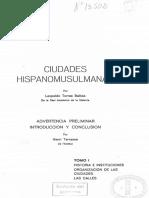 1970 Ciudades Hispanomusulmanas Tomo I