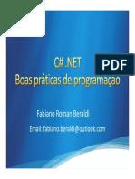 Boas praticas C# dicas