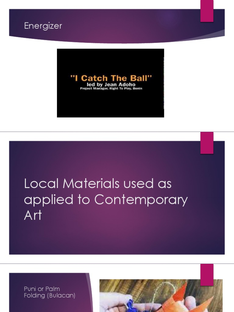 Local Materials Used As Applied In Contemporary Art Canvas Textiles